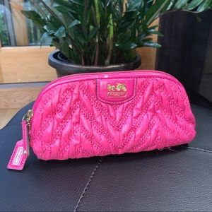 COACH Pink Cosmetic Bag